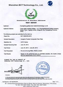 材料环保认证证书